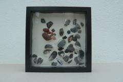 Basteln Steine in Gips
