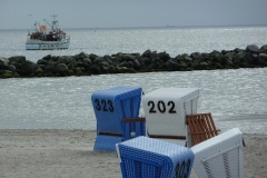 Damp Strand Fischkutter
